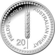 Australia 20 Cents Wheat Fields of Gold 2012 KM# 1625 AUSTRALIAN WHEAT FIELDS OF GOLD 20 WP coin reverse