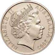 Australia 20 Cents World War - Comming Home 2005 B Proof KM# 745A ELIZABETH II AUSTRALIA 2005 coin obverse