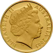 Australia 20 Cents World War - Comming Home 2005 B Proof KM# 745B ELIZABETH II AUSTRALIA 2005 coin obverse