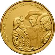 Australia 20 Cents World War - Comming Home 2005 B Proof KM# 745B WORLD WAR 1939-1945 COMMING HOME 20 coin reverse