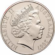 Australia 20 Cents (Year of the Surf Lifesaver) KM# 820 ELIZABETH II AUSTRALIA 2007 IRB coin obverse