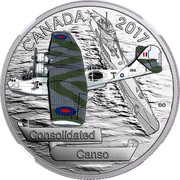 Canada 20 Dollars Aircraft of the Second World War - Consolidated Canso 2017 Proof CANADA 2017 CONSOLIDATED CANSO coin reverse