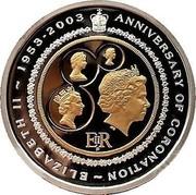 Australia 20 Dollars Golden Jubilee Coronation 2003 KM# 687 ANNIVERSARY OF CORONATION ~ ELIZABETH II ~ 1953 - 2003 coin reverse