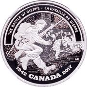 Canada 20 Dollars Second World War Battlefront Series - Battle of Dieppe 2017 Proof THE BATTLE OF DIEPPE - LA BATAILLE DE DIEPPE 1942 CANADA 2017 AD ALC 139 coin reverse