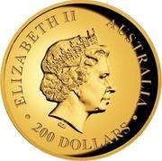 Australia 200 Dollars Australian Koala 2013 P Proof KM# 1984 ELIZABETH II AUSTRALIA 200 DOLLARS IRB coin obverse