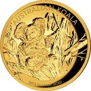 Australia 200 Dollars Australian Koala 2013 P Proof KM# 1984 AUSTRALIAN KOALA 2013 2OZ 9999 GOLD coin reverse