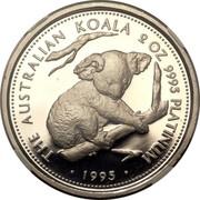 Australia 200 Dollars Koala 1995 Proof KM# 288 1995 2 OZ 9995 PLATINUM THE AUSTRALIAN KOALA coin reverse
