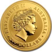 Australia 200 Dollars Lunar Dragon 2000 KM# 667 ELIZABETH II AUSTRALIA 200 DOLLARS IRB coin obverse