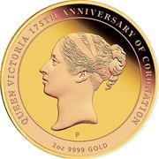 Australia 200 Dollars Queen Victoria 175th Anniversary of Coronation 2013 KM# 1931 QUEEN VICTORIA 175TH ANNIVERSARY OF CORONATION P 2 OZ 9999 GOLD coin reverse