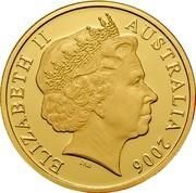 Australia 200 Dollars Red Tailed Cockatoo 2006 Proof KM# 2006 ELIZABETH AUSTRALIA 2006 IRB coin obverse