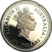 Australia 200 Dollars The Australian Koala 1998 KM# 461 ELIZABETH II AUSTRALIA 200 DOLLARS IRB coin obverse