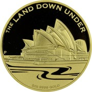 Australia 200 Dollars The Land Down Under 2013 Proof KM# 2042 THE LAND DOWN UNDER 2OZ 9999 GOLD P coin reverse
