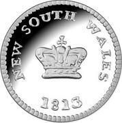 Australia 25 Cents Australian Holey Dollar and Dump 2013 KM# 1917 NEW SOUTH WALES 1813 coin reverse