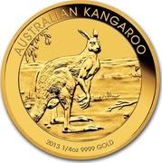 Australia 25 Dollars Australian Kangaroo 2013 KM# 1990 AUSTRALIAN KANGAROO 2013 1/4 OZ 9999 GOLD P TV coin reverse