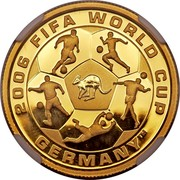 Australia 25 Dollars FIFA World Cup 2006 P Proof KM# 869 2006 FIFA WORLD CUP GERMANY™ coin reverse