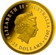Australia 25 Dollars FIFA World cup - Brazil 2013 P Proof KM# 1933 ELIZABETH II AUSTRALIA 2013 25 DOLLARS coin obverse