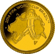 Australia 25 Dollars FIFA World cup - Brazil 2013 P Proof KM# 1933 2014 FIFA WORLD CUP BRAZIL TM coin reverse