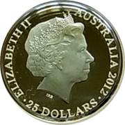 Australia 25 Dollars Kangaroo at Sunset 2012 KM# 2025 ELIZABETH II AUSTRALIA YEAR 25 DOLLARS IRB coin obverse