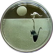 Australia 25 Dollars Kangaroo at Sunset 2012 KM# 2025 1/5 OZ. 9999 AU coin reverse