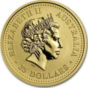 Australia 25 Dollars Lunar Dragon 2000 KM# 527 ELIZABETH II AUSTRALIA 25 DOLLARS IRB coin obverse