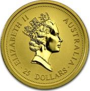 Australia 25 Dollars (Lunar Ox) KM# 336 ELIZABETH II AUSTRALIA 25 DOLLARS RDM coin obverse