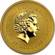 Australia 25 Dollars Lunar Pig 2007 KM# 1893 ELIZABETH II AUSTRALIA 25 DOLLARS IRB coin obverse