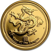 Australia 25 Dollars Year of the Dragon 2012 KM# 1672 YEAR OF THE DRAGON P coin reverse