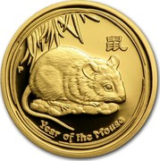 Australia 25 Dollars Year of the Mouse 2008 KM# 1894 YEAR OF THE MOUSE P coin reverse