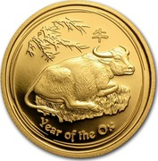 Australia 25 Dollars Year of the Ox 2009 KM# 1895 YEAR OF THE OX P coin reverse