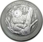 Australia 30 Dollars Australian Koala 2013 KM# 1981 AUSTRALIAN KOALA 2013 1 KILO 999 SILVER P TV coin reverse