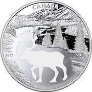 Canada 30 Dollars Endangered Animal Cutout - Woodland Caribou 2017 Proof CANADA 2017 30 DOLLARS TT coin reverse