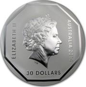 Australia 30 Dollars Koala Road Sign 2013 KM# 1955 ELIZABETH II AUSTRALIA 2014 30 DOLLARS IRB coin obverse