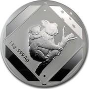 Australia 30 Dollars Koala Road Sign 2013 KM# 1955 1 KG .999 AG coin reverse
