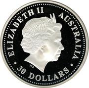Australia 30 Dollars Lunar Dog 2006 KM# 1896 ELIZABETH II AUSTRALIA 30 DOLLARS IRB coin obverse