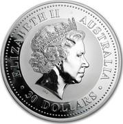 Australia 30 Dollars (Lunar Dragon) KM# 525.1 ELIZABETH II AUSTRALIA 30 DOLLARS IRB coin obverse