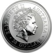 Australia 30 Dollars Lunar Dragon (Colorized) 2000 KM# 525.2 ELIZABETH II AUSTRALIA 30 DOLLARS IRB coin obverse