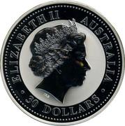 Australia 30 Dollars Lunar Goat (Colorized) 2003 KM# 681a ELIZABETH II AUSTRALIA 30 DOLLARS IRB coin obverse