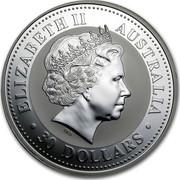 Australia 30 Dollars Lunar Monkey 2004 KM# 677.1 ELIZABETH II AUSTRALIA 30 DOLLARS IRB coin obverse