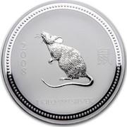 Australia 30 Dollars Lunar Mouse 2007 KM# 1898 2008 1 KILO 999 SILVER coin reverse