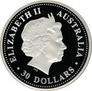 Australia 30 Dollars Lunar Pig 2007 KM# 1897 ELIZABETH II AUSTRALIA 30 DOLLARS IRB coin obverse