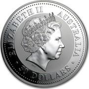 Australia 30 Dollars Lunar Rooster 2005 KM# 697a ELIZABETH II AUSTRALIA 30 DOLLARS IRB coin obverse