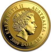 Australia 3000 Dollars Lunar Dragon 2000 KM# 703 ELIZABETH II AUSTRALIA 3000 DOLLARS IRB coin obverse