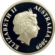 Australia 5 Cents Decimal Pattern 2009 P Proof KM# 1251 ELIZABETH II AUSTRALIA 2009 coin obverse