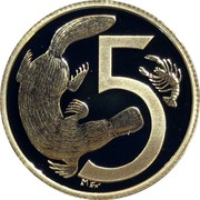 Australia 5 Cents Decimal Pattern 2009 P Proof KM# 1251 5 coin reverse