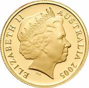 Australia 5 Cents Echidna 2005 B Proof KM# 401a ELIZABETH II AUSTRALIA 2005 IRB coin obverse