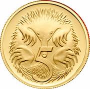 Australia 5 Cents Echidna 2005 B Proof KM# 401a 5 SD coin reverse
