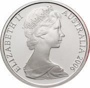 Australia 5 Cents Echidna 2006 KM# 64a ELIZABETH II AUSTRALIA 2006 coin obverse