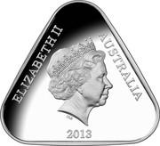 Australia 5 Dollars 25th Anniversary of Australian Parliament House 2013 KM# 1965 ELIZABETH II AUSTRALIA 2013 IRB coin obverse