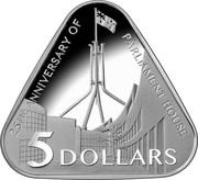 Australia 5 Dollars 25th Anniversary of Australian Parliament House 2013 KM# 1965 25TH ANNIVERSARY OF PARLIAMENT HOUSE 5 DOLLARS coin reverse