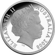 Australia 5 Dollars Aviation history - Avro 504K 2008 Proof KM# 1072 ELIZABETH II AUSTRALIA 2008 IRB coin obverse